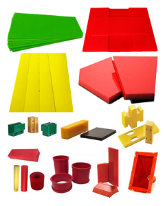PU wear liners and parts