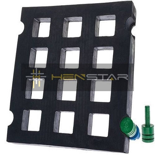 Rubber modular vibrating screen panel